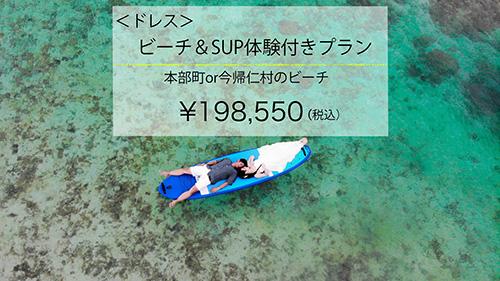【ドレス】ビーチ&SUP体験付きプランイメージ